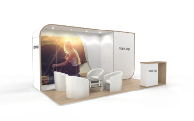 Location stand d'exposition personnalisable New Age 15m2