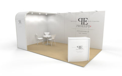 Location stand d'exposition personnalisable Soft 15m2
