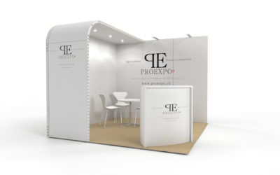 Location stand d'exposition personnalisable Soft 9m2