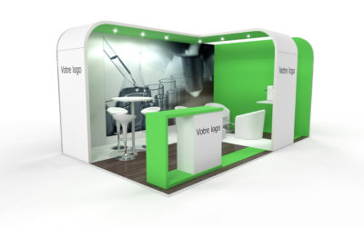 Location stand d'exposition personnalisable LAB 15m2