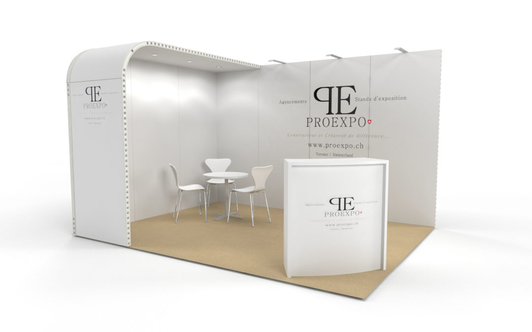 Location stand d'exposition personnalisable Soft 12m2
