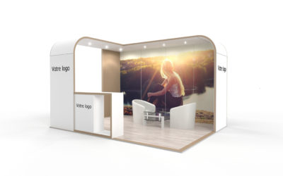 Location stand d'exposition personnalisable Cocoon 12m2