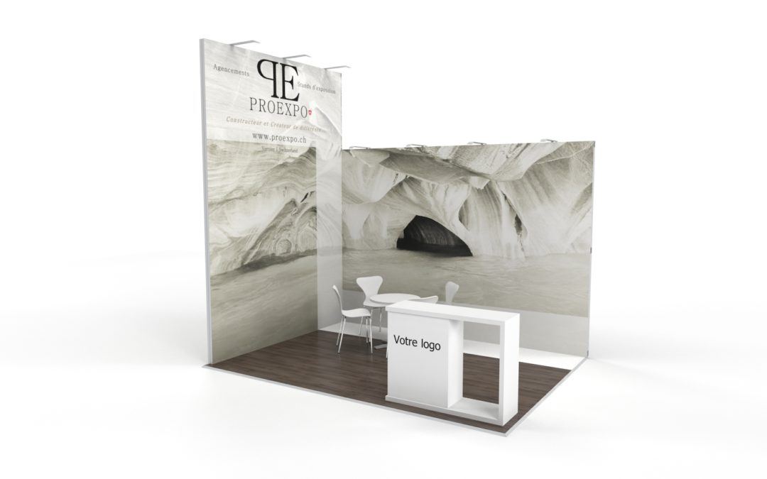 Location stand d'exposition personnalisable Line 12m2