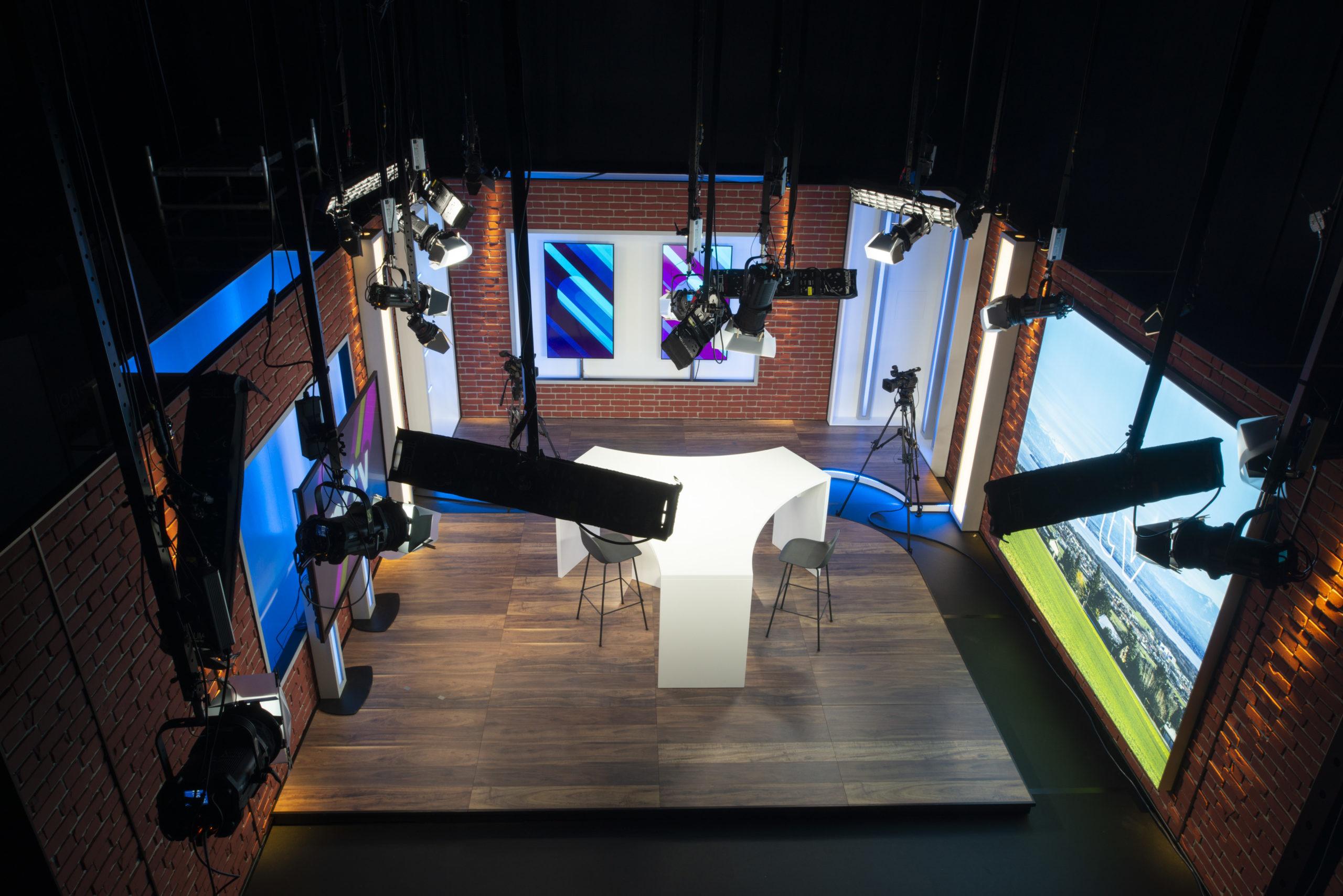 Conception fabrication Studio-TV-Nyon Région Télévision