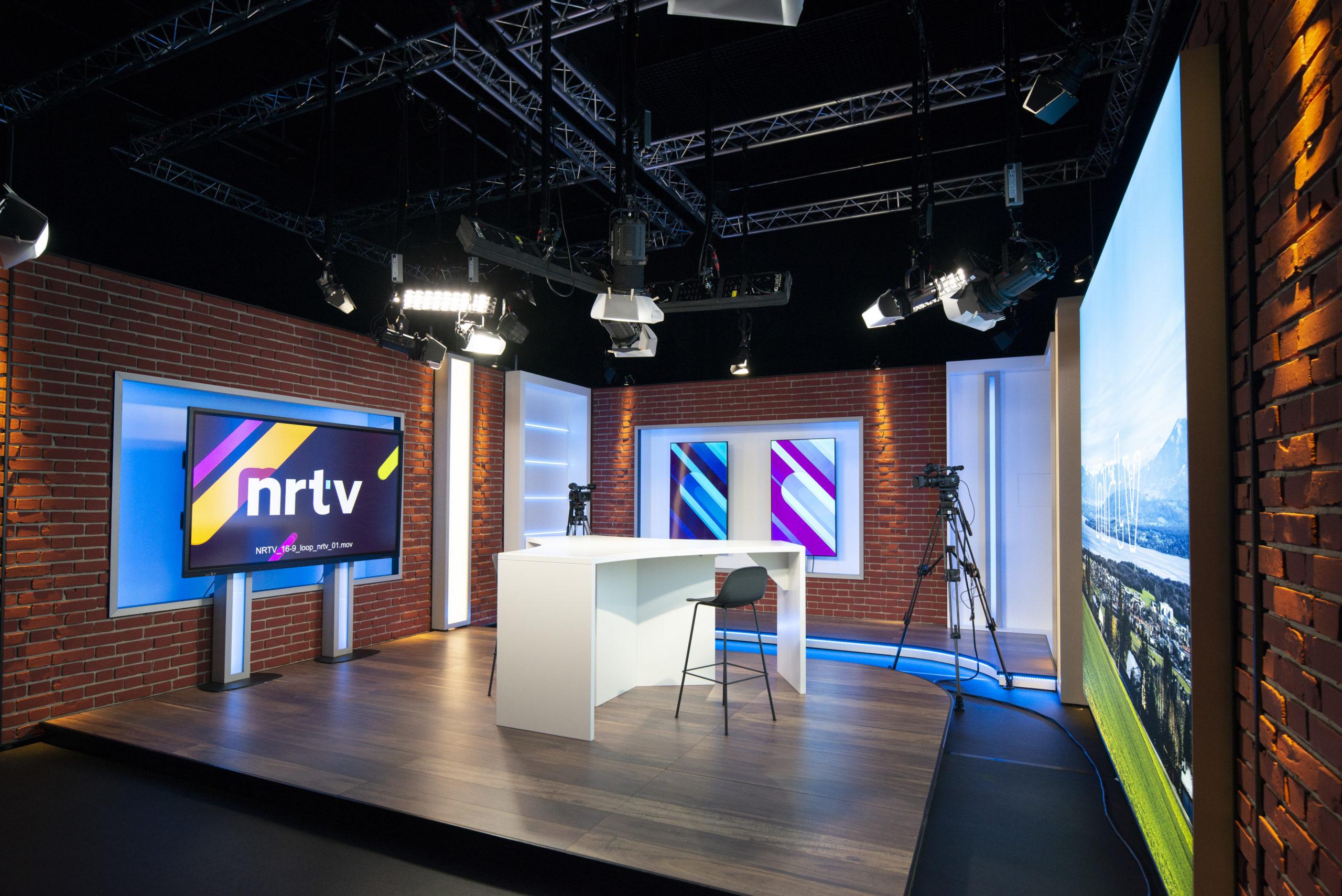Création de décors pour studio tv