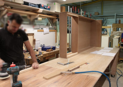 Fabrication gondole Fnac pour Relais & Chateaux