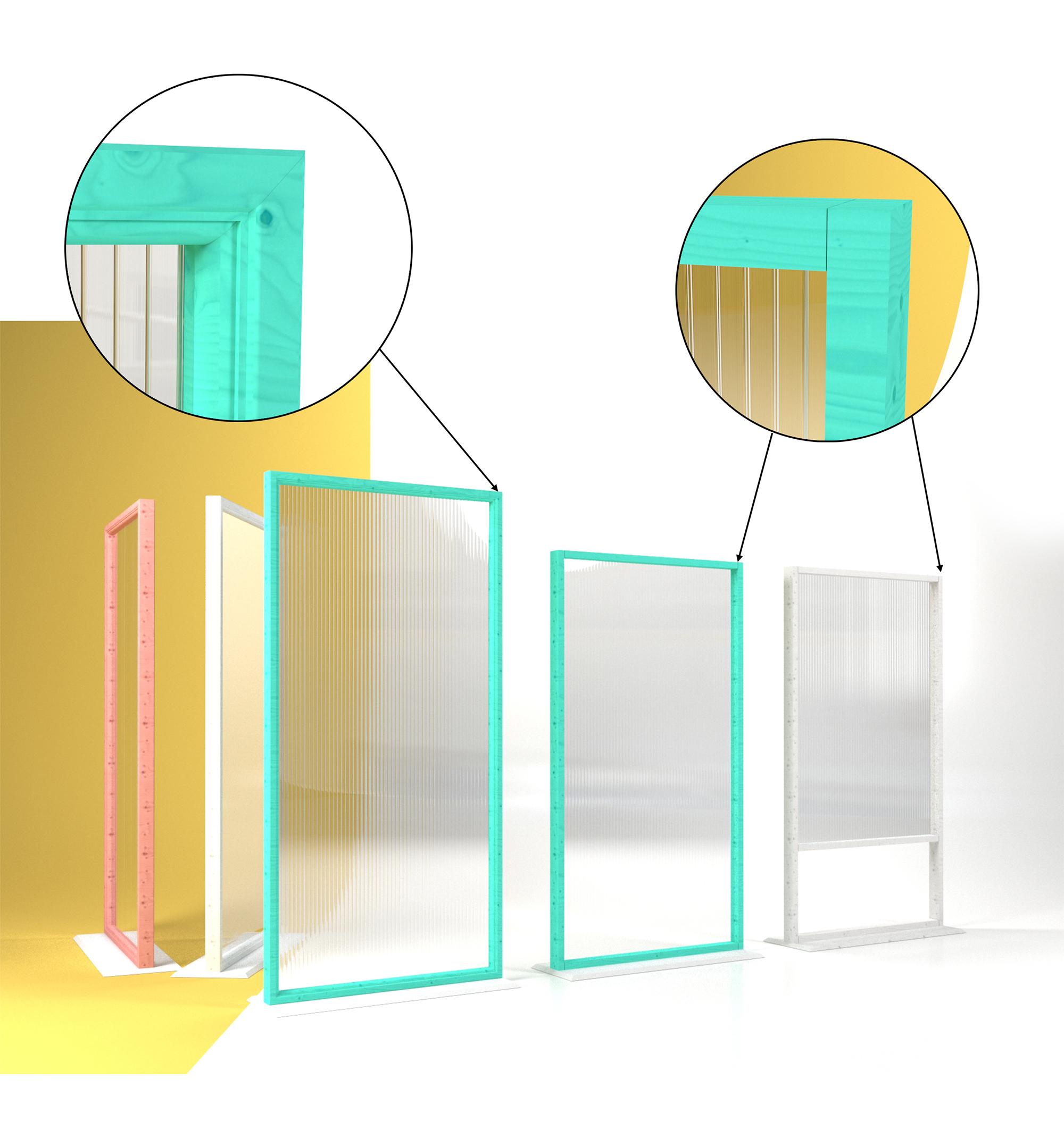 Mur de séparation mobile pour restaurants et hôtels.